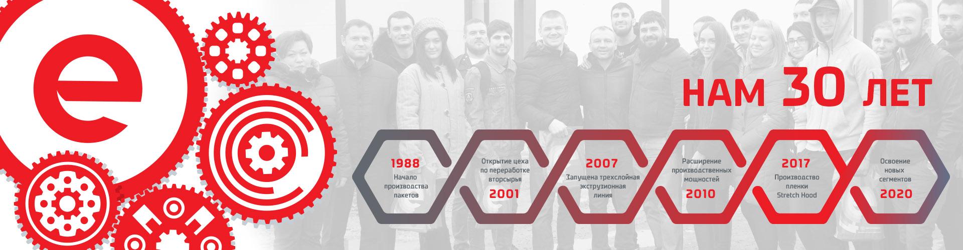30 лет компании Европолимер